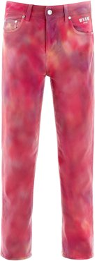 TIE-DYE JEANS 40 Fuchsia, Pink, Purple Cotton, Denim