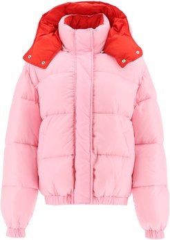 HOODED DOWN JACKET 38 Pink, Red