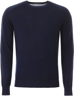 PULLOVER WITH PEGASO EMBROIDERY M Blue Wool