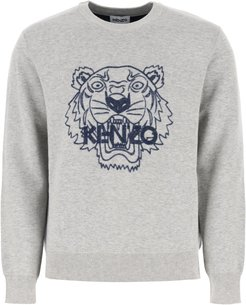 SWEATER WITH TIGER S Grey Wool