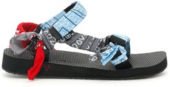 BANDANA TREKKY SANDALS 42 Grey, Red, Light blue Cotton