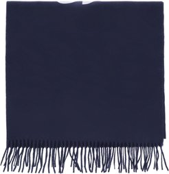 SHIRT 2020 WOOL SCARF OS Blue, White Wool