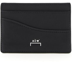 LEATHER CARD HOLDER OS Black Leather