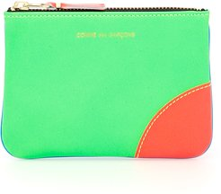 SUPER FLUO POUCH OS Green, Blue Leather