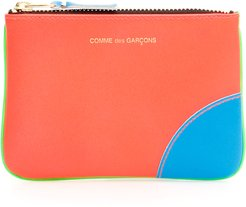 SUPER FLUO POUCH OS Orange, Green, Blue Leather