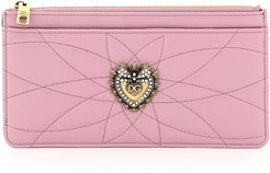 DEVOTION CARD HOLDER POUCH QUILTED NAPPA OS Pink Leather