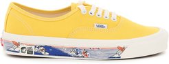 AUTHENTIC 44 Dx SNEAKERS WITH SURFING PRINT 7,5 Yellow Cotton