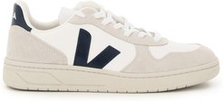 V-10 B-MESH SNEAKERS 39 White, Grey, Blue Leather