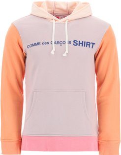 LOGO SWEATSHIRT WITH HOOD XS Orange, Pink, Grey Cotton