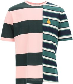 PATCHWORK RUGBY T-SHIRT S Green, Pink, Black Cotton