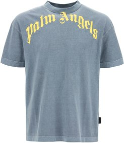 VINTAGE T-SHIRT WITH LOGO XS Blue, Yellow Cotton
