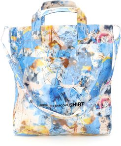 TOTE BAG FUTURA PRINT OS Light blue, White, Yellow