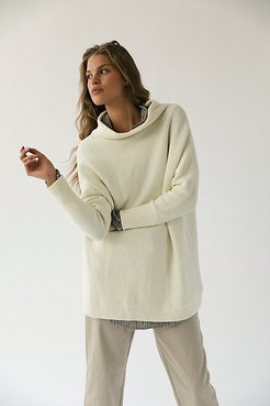 Ottoman Slouchy Tunic by Free People, Ivory, L