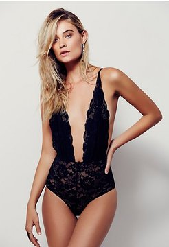 Comin' In Haht Bodysuit by HAH at Free People, Noir, S