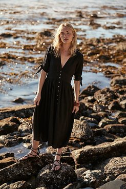 Love Of My Life Midi Dress by Endless Summer at Free People, Black, XS