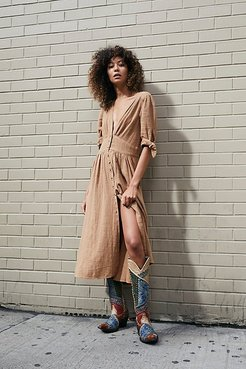 Love Of My Life Midi Dress by Endless Summer at Free People, Cool Khaki, M