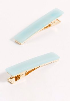 Acrylic Slide Set by Free People, Serene Blue, One Size