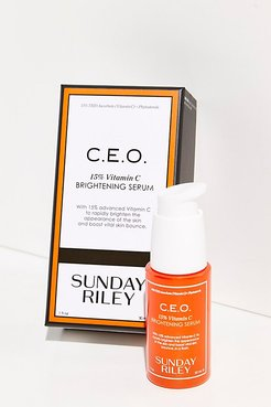 C.E.O Rapid Flash Brightening Serum by Sunday Riley at Free People, Brightening, One Size
