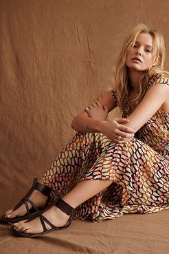 Vacation Day Wrap Sandals by FP Collection at Free People, Oxblood, EU 38