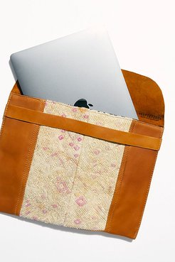 Leather Embroidered Laptop Case by Hiptipico at Free People, Pink Multi, One Size