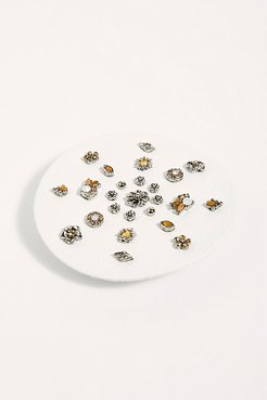 Destination Earring Set by Free People, Silver Daisy Garden, One Size
