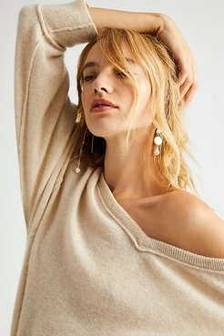 Love Like This Cashmere Pullover by Free People, Champagne, XL