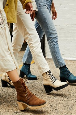 Dylan Lace-Up Boots by FP Collection at Free People, White, EU 36