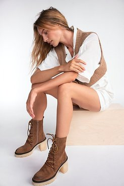 Dylan Lace-Up Boots by FP Collection at Free People, Taupe, EU 36