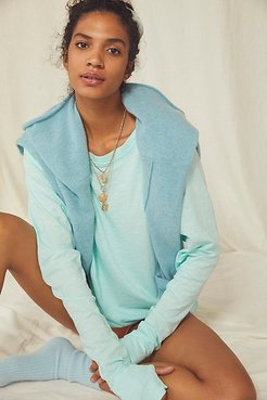 Arden Tee by We The Free at Free People, Arctic Waters, XS