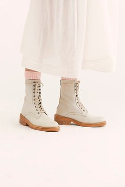 Santa Fe Lace-Up Boot by FP Collection at Free People, Ecru, EU 38