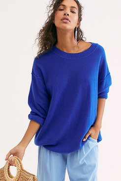 Talk All Night Cashmere Sweater by Free People, Lapis, XS