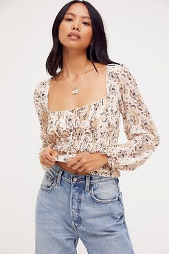 Printed Lolita Top by Free People, Light Combo, L