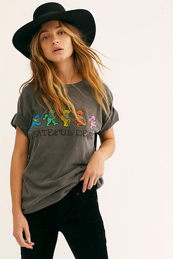 Grateful Dead Dancing Bears Tee by LIFE Clothing Co. at Free People, Black, S