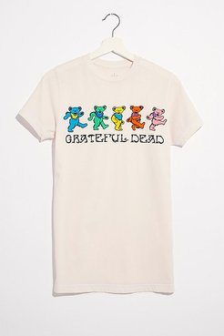 Grateful Dead Dancing Bears Tee by LIFE Clothing Co. at Free People, Pink, XS