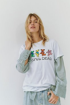 Grateful Dead Dancing Bears Tee by LIFE Clothing Co. at Free People, Mint, XS