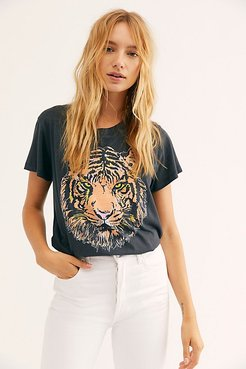 Tiger Tee Bodysuit by Daydreamer at Free People, Black, S