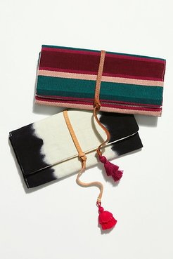 FP x Mercado Global Lillia Jewelry Roll by Mercado Global at Free People, Mulberry Multi Stripe, One Size