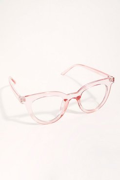 Canyon Blue Light Glasses by I SEA at Free People, Pink, One Size