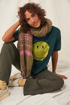 Classic Smiley Ringer Tee by Daydreamer x Free People at Free People, Emerald, XS