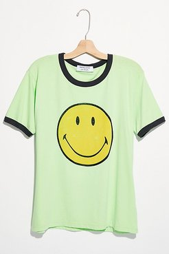 Classic Smiley Ringer Tee by Daydreamer x Free People at Free People, Bright Green, XS