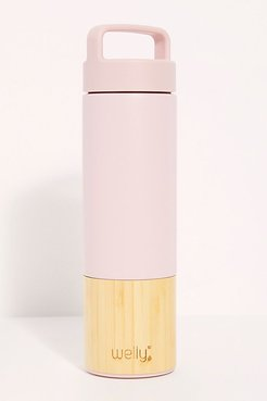 Bamboo Water Bottle by Welly at Free People, Pink, One Size