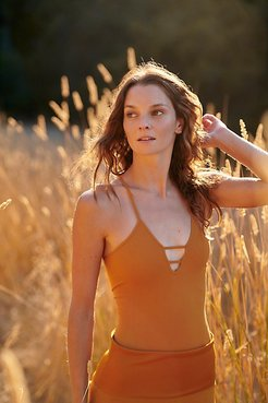 Dance All Night Bodysuit by FP Movement at Free People, Golden Ochre, XS/S