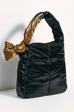Fractus Tote by Caraa at Free People, Metallic Black + Gold Tie, One Size