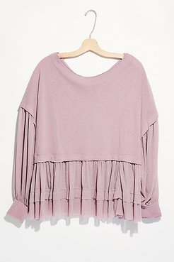 Sierra Long-Sleeve Tee by We The Free at Free People, Lilac Mist, S