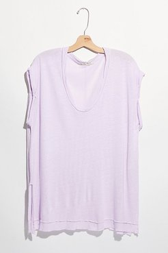 Under The Sun Tee by We The Free at Free People, Lavender Milk, XS