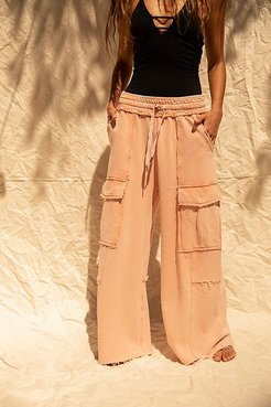 Mellow Out Pants by FP Movement at Free People, Brushed Apricot, M