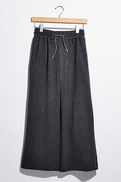 Terry Wide Leg Pants by Richer-Poorer at Free People, Charcoal Heather Grey, XS