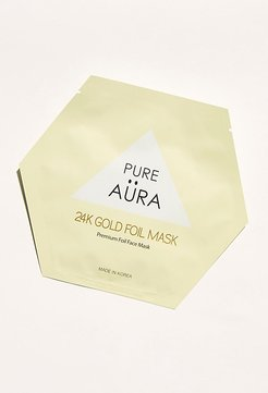 Metallic Foil Sheet Mask by Pure Aura at Free People, 24K Gold, One Size
