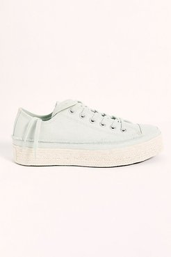 Chuck Taylor All Star Espadrille Sneakers by Converse at Free People, Green Oxide / White / Natural, US 7