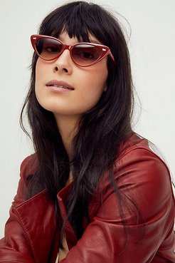 Olympic Cat Eye Sunglasses by Free People, Paprika, One Size